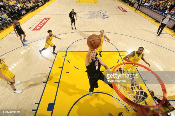 Danilo Gallinari of the LA Clippers shoots the ball against the Golden State Warriors during Game Two of Round One of the 2019 NBA Playoffs on April...