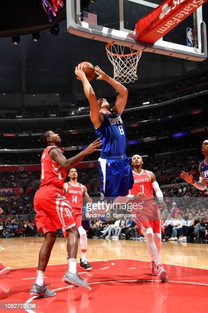 Danilo Gallinari of the LA Clippers shoots the ball against the Houston Rocket on October 21 2018 at Staples Center in Los Angeles California NOTE TO...