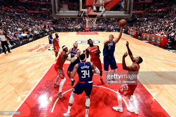 Danilo Gallinari of the LA Clippers shoots the ball against the Houston Rockets on October 21 2018 at Staples Center in Los Angeles California NOTE...