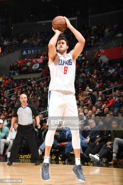 Danilo Gallinari of the LA Clippers shoots the ball against the Utah Jazz on January 16 2019 at STAPLES Center in Los Angeles California NOTE TO USER...