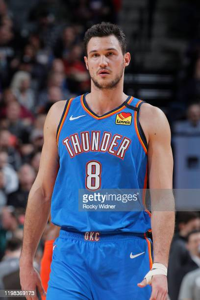 Danilo Gallinari of the Oklahoma City Thunder looks on during the game against the Sacramento Kings on January 29, 2020 at Golden 1 Center in...