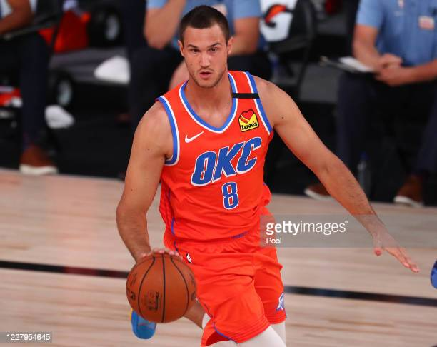 Danilo Gallinari of the Oklahoma City Thunder moves the ball against the Memphis Grizzlies during the first half of an NBA game at Visa Athletic...