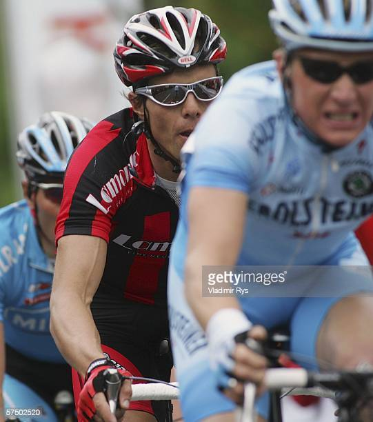 Danilo Hondo of Germany and Team Lamonta in action during the 2006 edition of the cycling race Rund um den Henninger Turm on May 1 2006 in Frankfurt...