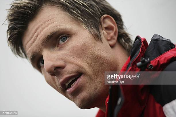 Danilo Hondo of Germany and Team Lamonta looks on prior to the Rund um Koeln cycling race on April 17 2006 in Cologne Germany Hondo didn't get...