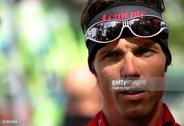 Danilo Hondo of Germany and Team Lamonta looks on prior to the start of the 2006 edition of the cycling race Rund um den Henninger Turm on May 1 2006...
