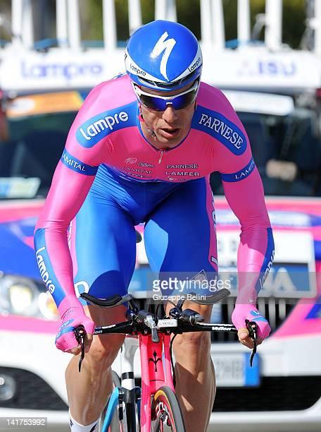 Danilo Hondo of Lampre ISD Team during the stage seven of the 2012 TirrenoAdriatico on March 13 2012 in San Benedetto del Tronto Italy