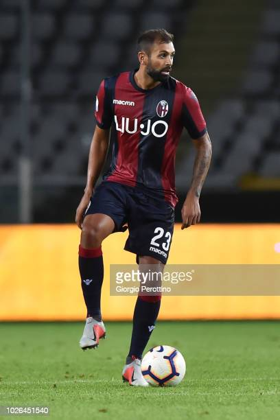 Danilo Larangeira of Bologna FC controls the ball during the serie A match between Frosinone Calcio and Bologna FC at Olimpico Stadium on August 26...