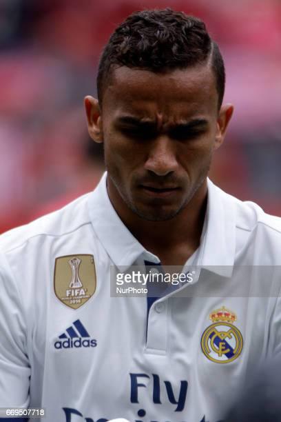 Danilo Luiz Da Silva defender of Real Madridd during the La Liga Santander match between Sporting de Gijon and Real Madrid at Molinon Stadium on...