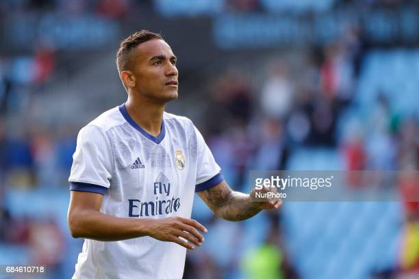 Danilo Luiz Da Silva defender of Real Madridd during the La Liga Santander match between Celta de Vigo and Real Madrid at Balaidos Stadium on May 17...