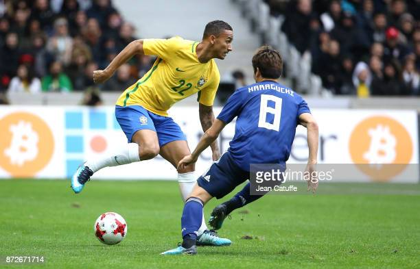 Danilo Luiz da Silva of Brazil during the international friendly match between Japan and Brazil at Stade Pierre Mauroy on November 10 2017 in Lille...