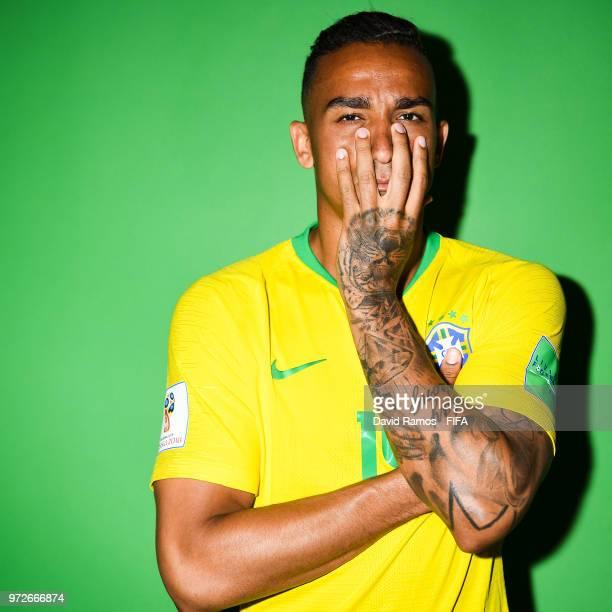 Danilo Luiz da Silva of Brazil poses during the official FIFA World Cup 2018 portrait session at the Brazil Team Camp on June 12 2018 in Sochi Russia