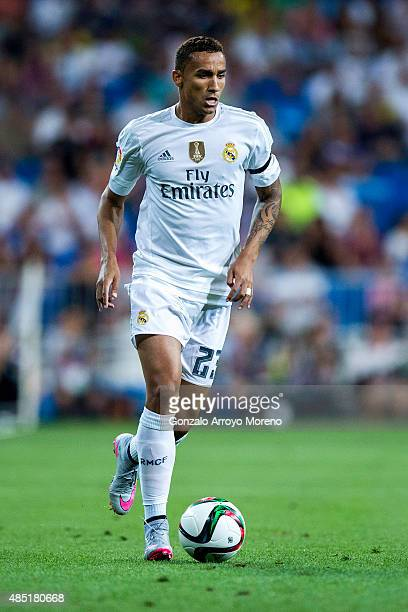 Danilo Luiz da Silva of Real Madrid CF controls the ball the Santiago Bernabeu Trophy match between Real Madrid CF and Galatasaray at Estadio...