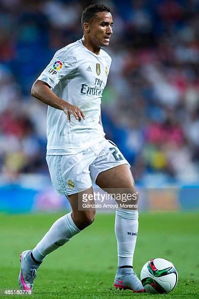 Danilo Luiz da Silva of Real Madrid CF controls the ball the Santiago Bernabeu Trophy match between Real Madrid CF and Galatasaray at Estadio...
