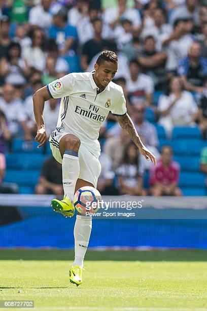 Danilo Luiz Da Silva of Real Madrid in action during the La Liga match between Real Madrid and Osasuna at the Santiago Bernabeu Stadium on 10...