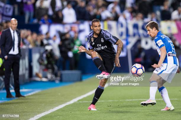 Danilo Luiz Da Silva of Real Madrid in action during their La Liga match between Deportivo Leganes and Real Madrid at the Estadio Municipal Butarque...