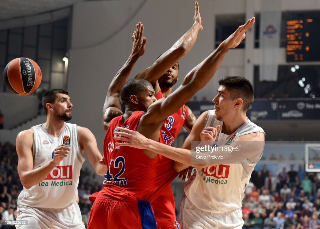 Buducnost Voli Podgorica v CSKA Moscow  - Turkish Airlines EuroLeague : News Photo