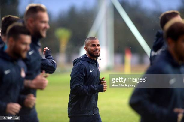 Danilo of Antalyaspor attends a training session ahead of the second half of Turkish Super Lig at club's sports facilities in Antalya Turkey on...
