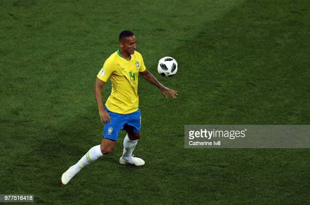 Danilo of Brazil during the 2018 FIFA World Cup Russia group E match between Brazil and Switzerland at Rostov Arena on June 17 2018 in RostovonDon...