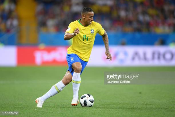 Danilo of Brazil in action during the 2018 FIFA World Cup Russia group E match between Brazil and Switzerland at Rostov Arena on June 17 2018 in...