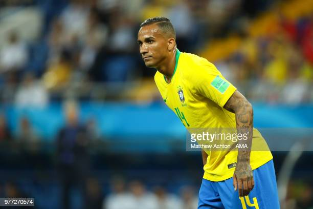 Danilo of Brazil looks on during the 2018 FIFA World Cup Russia group E match between Brazil and Switzerland at Rostov Arena on June 17 2018 in...