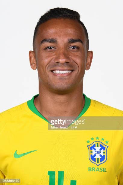 Danilo of Brazil poses for a portrait during the official FIFA World Cup 2018 portrait session at the Brazil Team Camp on June 12 2018 in Sochi Russia