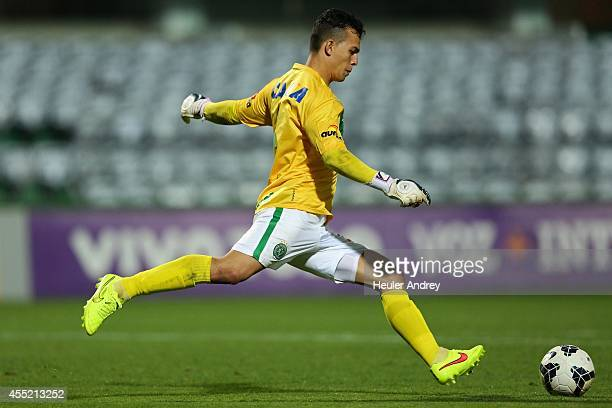Danilo of Chapecoense during the match between Coritiba and Chapecoense for the Brazilian Series A 2014 at Couto Pereira stadium on September 10 2014...