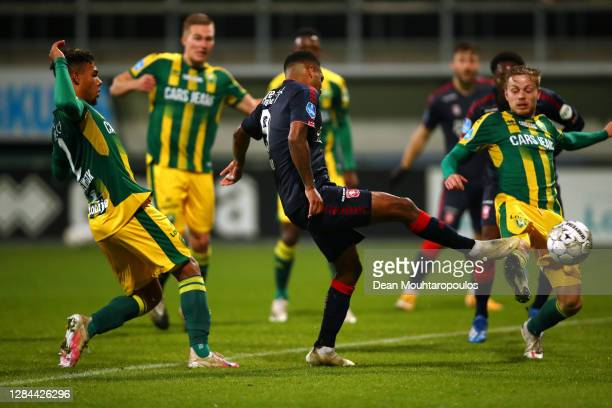 Danilo of FC Twente scores his teams third goal in th final minutes during the Dutch Eredivisie match between ADO Den Haag and FC Twente at Cars...