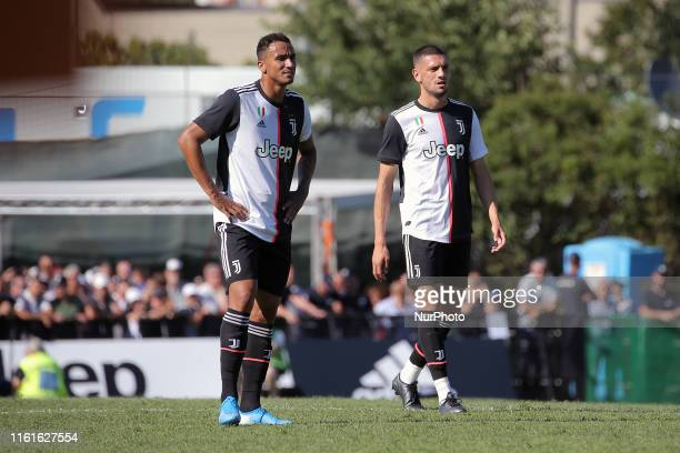 Danilo of Juventus FC and Merih Demiral #j28 of Juventus FC during the pre-season friendly match between Juventus A and Juventus B at Campo Comunale...