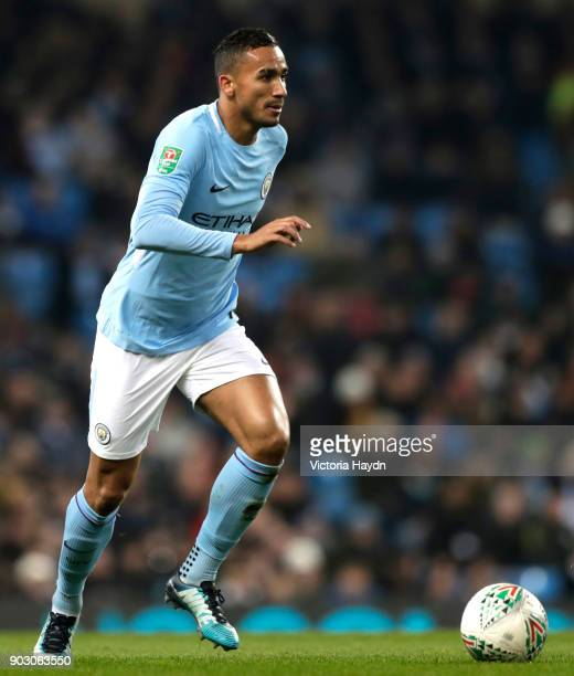 Danilo of Manchester City during the Carabao Cup SemiFinal First Leg match between Manchester City and Bristol City at Etihad Stadium on January 9...