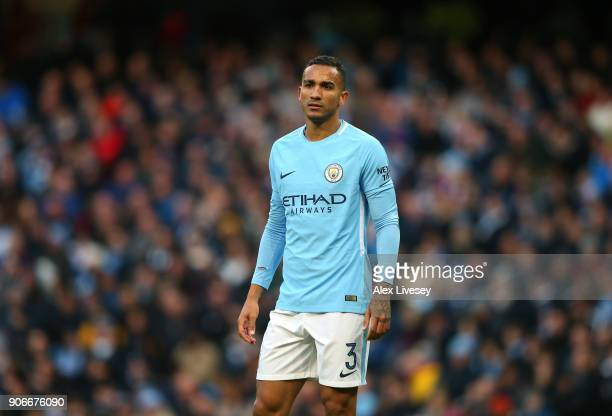 Danilo of Manchester City during The Emirates FA Cup Third Round match between Manchester City and Burnley at Etihad Stadium on January 6 2018 in...