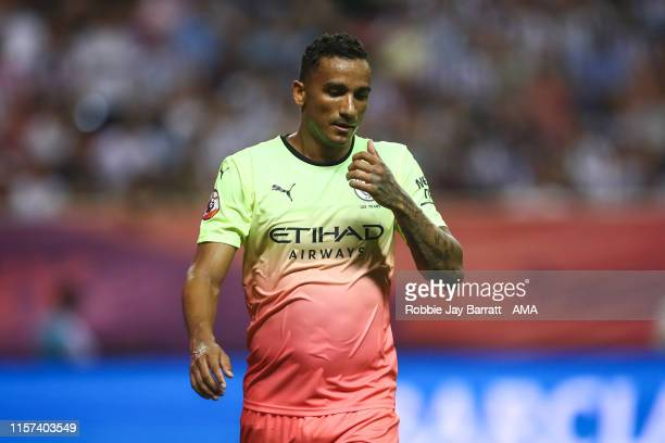 Danilo of Manchester City during the Premier League Asia Trophy 2019 final fixture between Manchester City v Wolverhampton Wanderers at Hongkou...