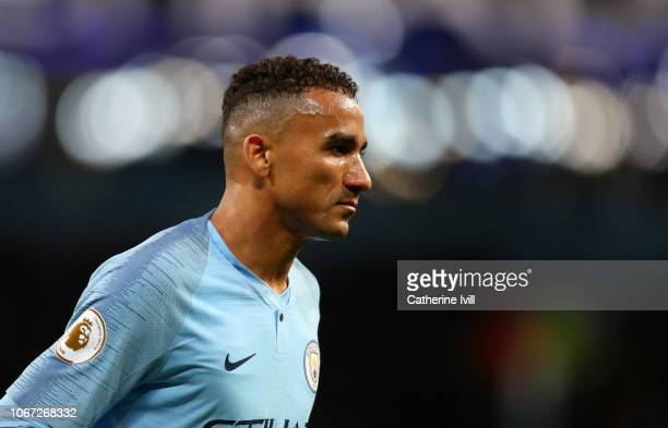 Danilo of Manchester City during the Premier League match between Manchester City and AFC Bournemouth at Etihad Stadium on December 1 2018 in...