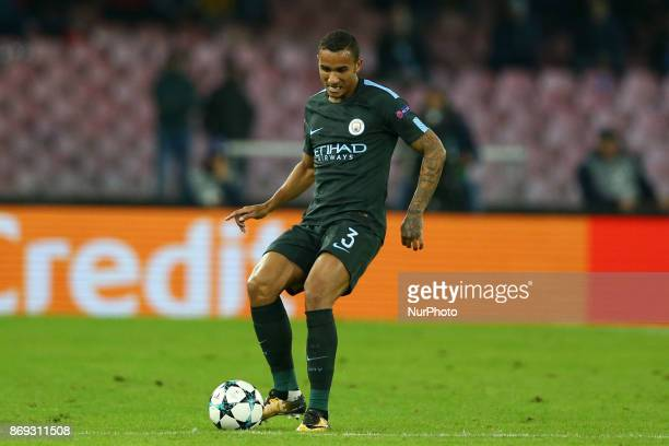 Danilo of Manchester City during the UEFA Champions League football match Napoli vs Manchester City on November 1 2017 at the San Paolo stadium in...