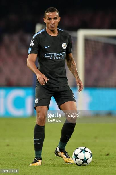 Danilo of Manchester City during the UEFA Champions League match between Napoli v Manchester City at San Paolo Stadium Naples Italy on 1 November 2017