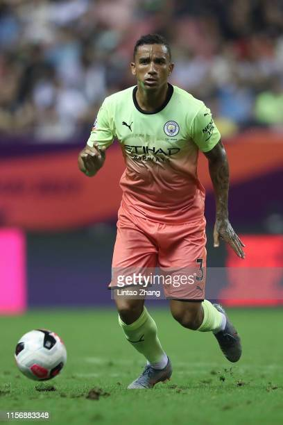 Danilo of Manchester City in action during the Premier League Asia Trophy 2019 finals match between Manchester City and Wolverhampton Wanderers at...