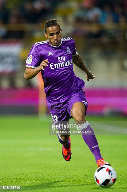 Danilo of Real Madrid controls the ball during the Copa del Rey Round of 32 match between Cultural Leonesa and Real Madrid CF at Reino de Leon...