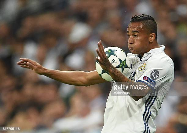 Danilo of Real Madrid during the UEFA Champions League Group F match between Real Madrid CF and Legia Warszawa at Bernabeu on October 18 2016 in...
