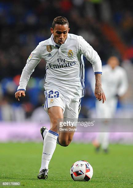 Danilo of Real Madrid in action during the Copa del Rey Quarter Final First Leg match between Real Madrid CF and Celta Vigo at Bernabeu on January 18...
