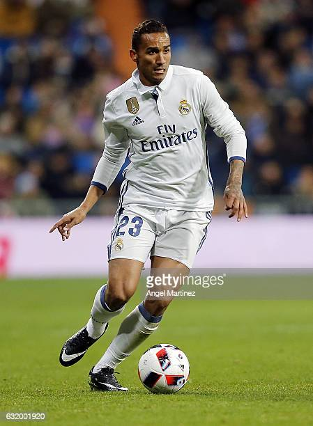 Danilo of Real Madrid in action during the Copa del Rey quarterfinal first leg match between Real Madrid CF and Celta de Vigo at Estadio Santiago...