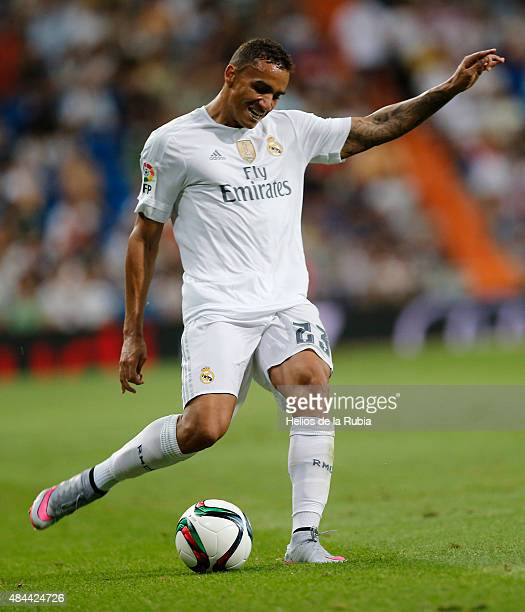 Danilo of Real Madrid in action during the Santiago Bernabeu Trophy match between Real Madrid and Galatasaray at Estadio Santiago Bernabeu on August...