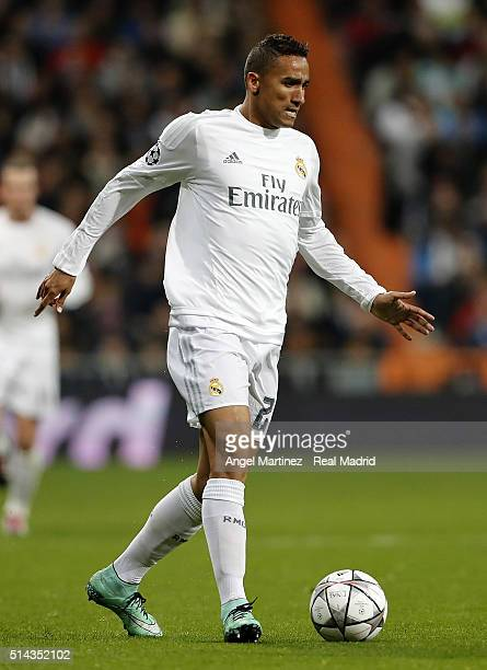 Danilo of Real Madrid in action during the UEFA Champions League Round of 16 Second Leg match between Real Madrid CF and AS Roma at Estadio Santiago...