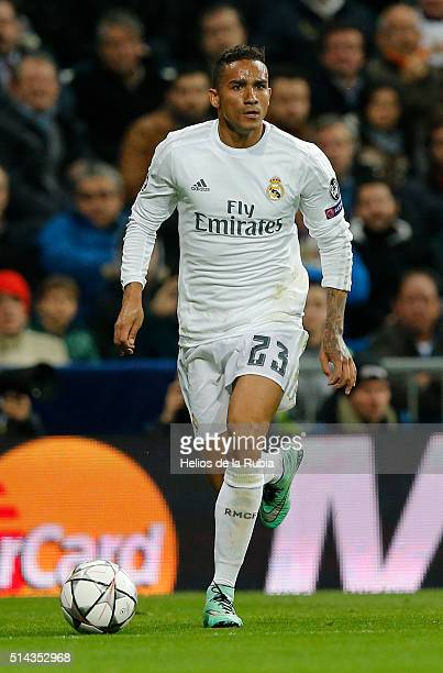 Danilo of Real Madrid in action during the UEFA Champions League Round of 16 Second Leg match between Real Madrid and AS Roma at Estadio Santiago...