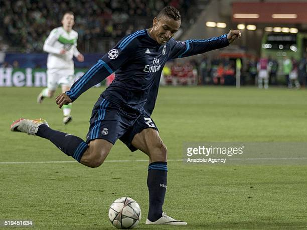 Danilo of Real Madrid in action during the UEFA Champions league quarter final soccer match between Wolfsburg and Real Madrid at the VolkswagenArena...