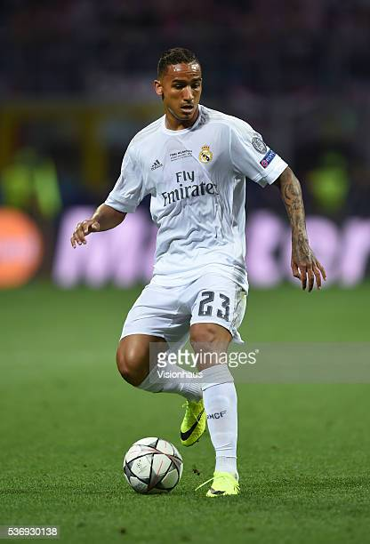 Danilo of Real Madrid in action during the UEFA Champions League Final between Real Madrid v Club Atletico de Madrid at Stadio Giuseppe Meazza on May...