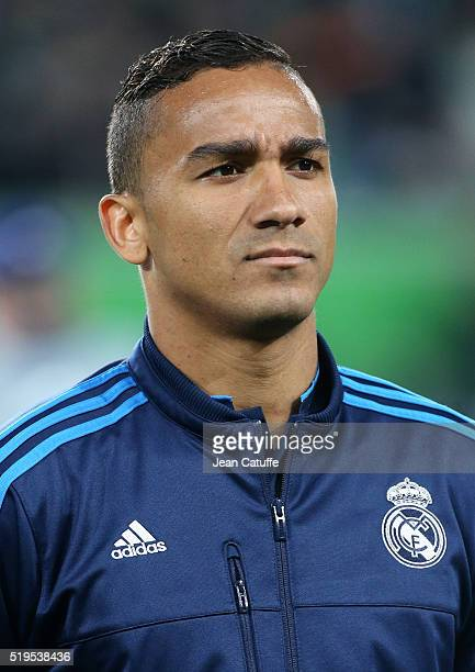 Danilo of Real Madrid looks on before the UEFA Champions League quarter final first leg match between VfL Wolfsburg and Real Madrid at Volkswagen...