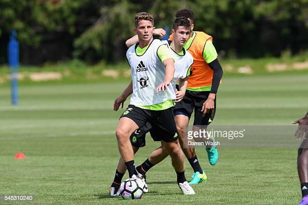 Danilo Pantic Jordan Houghton at Chelsea Training Ground on July 6 2016 in Cobham England