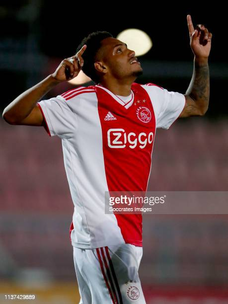 Danilo Pereira Da Silva of Ajax U23 celebrates 52 during the Dutch Keuken Kampioen Divisie match between Ajax U23 v Go Ahead Eagles at the De...