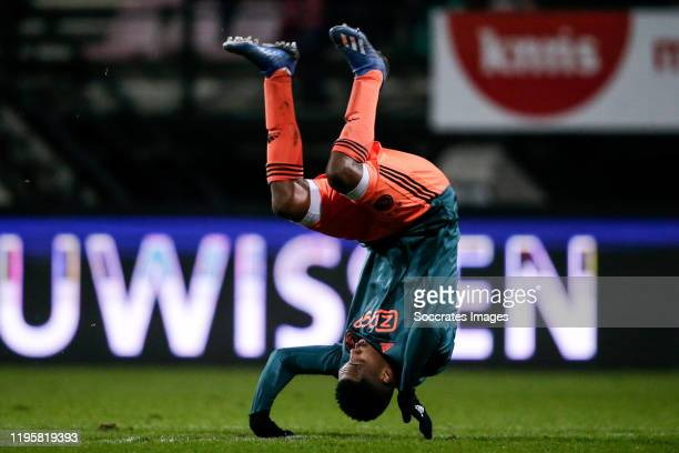 Danilo Pereira da Silva of Ajax U23, celebrates his goal the 0-1 during the Dutch Keuken Kampioen Divisie match between NEC Nijmegen v Ajax U23 at...