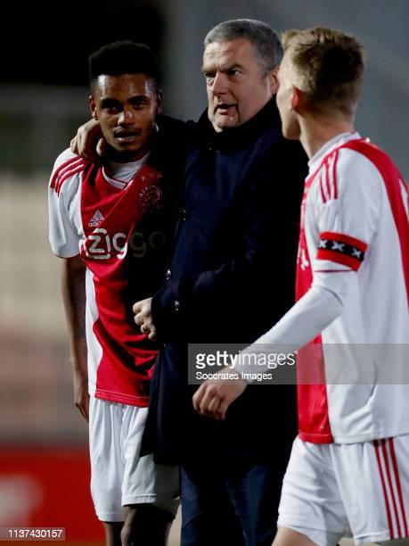 Danilo Pereira Da Silva of Ajax U23 celebrates the victory during the Dutch Keuken Kampioen Divisie match between Ajax U23 v Go Ahead Eagles at the...