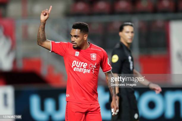Danilo Pereira of FC Twente celebrates 2-0 during the Dutch Eredivisie match between Fc Twente v PEC Zwolle at the De Grolsch Veste on October 31,...